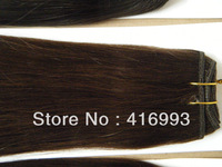 "18"" 20"" 22"" inch 2# Darkest Brown Color Hair Weft Weaving Hair Human Hair Extensions Indian Remy 300g/lot AAA DHL Free Shipping"