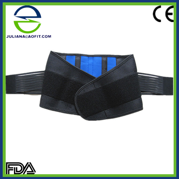 Neoprene Double Pull Lumbar Back Brace Belt Support