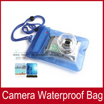 2pcs Waterproof  Digital Camera Case For Nikon / Canon / Sony / OLYMPUS Underwater Dry Bag Pouch Outdoor equipment FREE SHIPPING