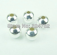 Free shipping 8mm 500pcs silver plated spacer beads / round Smooth bead / Copper Beads / Loose Beads jewelry findings