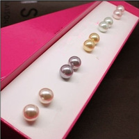 2014 New Fashion Simulated Pearl Earrings Set (5 Pair/set), Ladies'  stud earrings,COME WITH A FREE Packing GIFT BOX