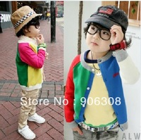 Free Shipping!2013 new arrival Autumn children jacket fashion boy's outwear coats kids clothing cotton child male cotton coats