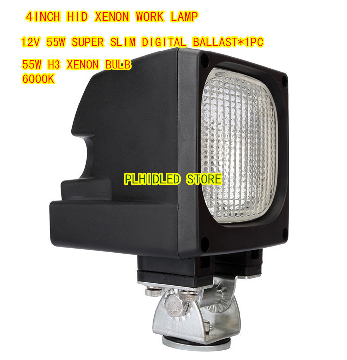 Working Lamp Flood Beam 12V 55W HID Xenon Work Light kit SUV 4X4 ATV Off-Road(China (Mainland))