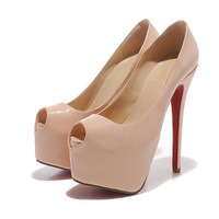 16 cm Heels Red Bottom Shoes High Heel Pumps Peep Toe High Heels