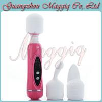 Maggiq-079 Free Shipping Wholesale Multi Function Magic Wand Massager Mini AV Vibrator Sex Toy for Female Sex Products