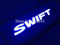 Excellent 4 pcs/set led stainless steel threshold door sills/scuff plate For Suzuki Swift 2012~2013 LED light sticker
