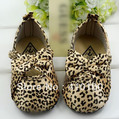 S126 free shipping !Bow leopard baby shoes,foreign trade baby shoes , toddler shoes 3 size to choose(China (Mainland))