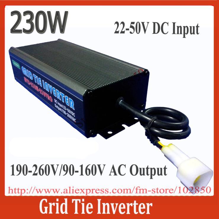 IP 65 Waterproof 22-50V DC input,230W on gird solar power inverter,Grid Tie Micro-Inverter,(China (Mainland))