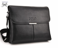 2014 new polo fashion business briefcases zipper crossbody bags brand designer messenger bag genuine leather bag for men