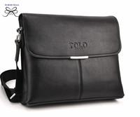 2014 new polo fashion business briefcases zipper crossbody bags brand designer messenger bag genuine leather bag for men
