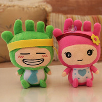 7'' plush cartoon toy Bangzai for kid's toys(4 designs), 18 cm mini stuffed cartoon figure for car decoration, 4 pcs/set