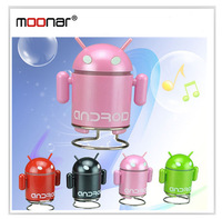 4 Colors Portable Mini USB Loud speaker TF SD Card Voice sound box Android Robot Shape