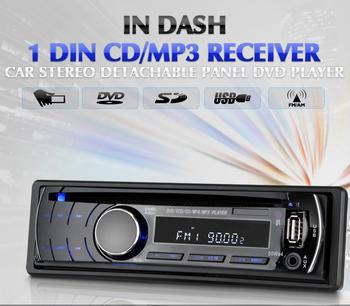 T-3088 IN DASH CAR CD DVD PLAYER AUDIO RADIO STEREO 1 DIN DETACHABLE MP3 MP4