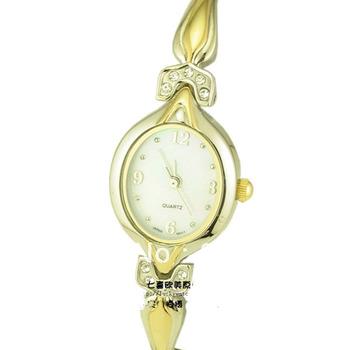 Quartz Ladies Bracelet Dress Watch shell dial plate leather strap