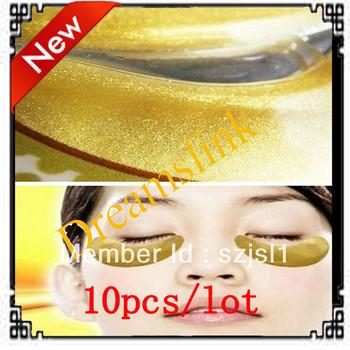 10 Pack Hot Brand New Crystal Collagen Gold Powder Eye Mask Crystal Eye Mask FREE SHIPPING