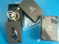 brand car key usb flash drive 100% free gift  box  64gb  Mercedes Benz pendrive