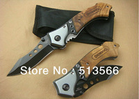 Free Shipping Browning Three Eye Folding Knife Stainless Steel Hunting Knife camping tool pocket knife  (OEM)