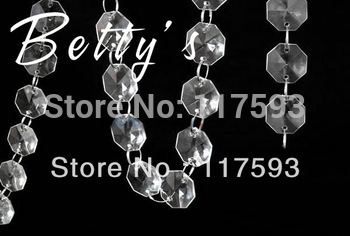 10M/30FT clear transparent acrylic octagonal beaded garland chains for wedding chandelier table decoration
