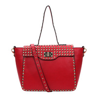 Vintage Trend Briefcase Vogue Ladie Handbag Elegant RED Satchel & Messenger Bag OL Style YL126