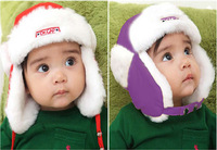 Free shipping (10 pieces/lot)  Baby Hats Boys and Girls Winter Hat Ear Cap Children Winter Hats 5 colors