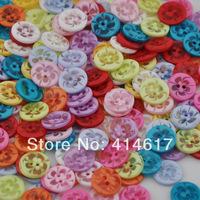 200 pcs Upick 13mm Mini 2Holes Plastic Buttons For Kid's Sewing Crafts Lots Mix JB001