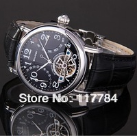 Tourbillon back through the hollow men table Belt butterfly buckle Automatic mechanical watches men watches watch
