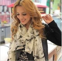 (MIX order 10$) Free shipping  Graffiti shawls Silk chiffon, Sexy women Marilyn Monroe picture scarf  C060