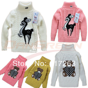 Available, Wholesale 3pcs/lot baby girl's fashion Knitted bottoming shirts/sweater