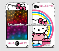 cute hello kitty front and back screen protector guard for iphone 5