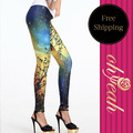 Ohyeah Galaxy series Trousers Digital Printed Fantasy Cosmic Space Leggings T2187