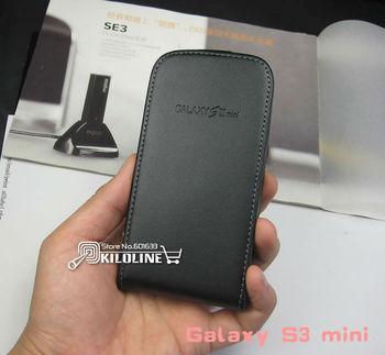 Gift screen Film! Genuine Flip Leather Case Cover For Samsung i8190 Galaxy S3 mini