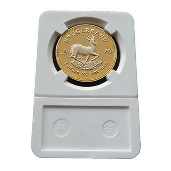 Wholesale 5pcs/lot Free shipping South Africa 1969 Gold clad Replica Krugerrand Souvenir coins