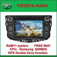 Car DVD Player with GPS for TOYOTA RAV4- FM, Bluetooth, Free Map DVD+AM/FM+SD/USB+IPOD+Analog TV+BT+3D UI