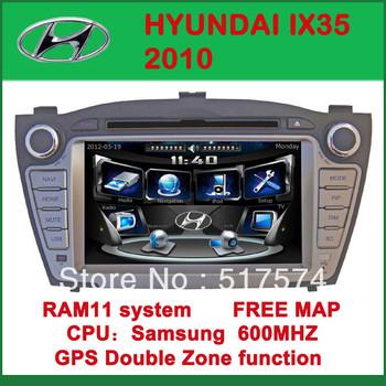 Car DVD Player with GPS for HYUNDAI IX35 2010- FM, Bluetooth, Free Map DVD+AM/FM+SD/USB+IPOD+Analog TV+BT+3D UI
