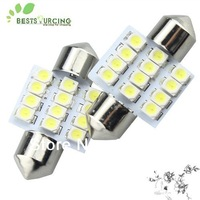 free shipping hot selling 10pcs 31mm  12 SMD 3528 LED Car Dome Festoon Interior Indicator Light Bulb Lamp
