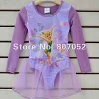 Free Shipping Girl Princess Tinkerbell Ballet Dance Dress Fairy Tutu Leotard Costume SZ 3-6 Y