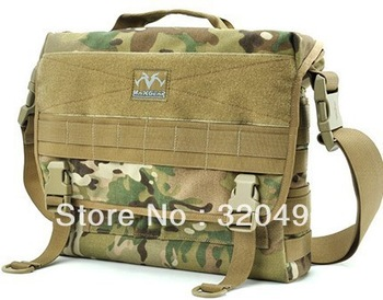 "Military Laptop Briefcase Men's Shoulder Molle System Messenger Bag 13""Laptop Bag 1000D Cordura Nylon YKK Zipper FREE SHIPPING"
