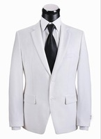 fashion brand high qualtiy men white suits two pieces in one set