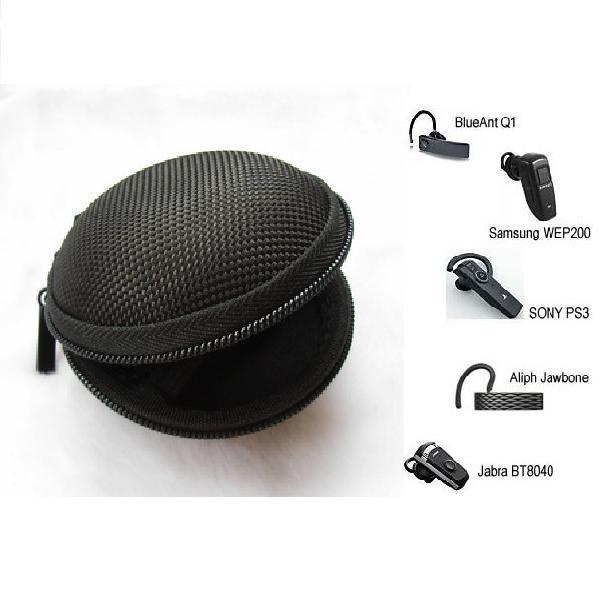 Hard Case Storage For Bluetooth Headset headphone earphone Aliph Jawbone BT8040/Stone2 BlueAnt S4 Q2 Voyager 855 Motorola PS3(China (Mainland))