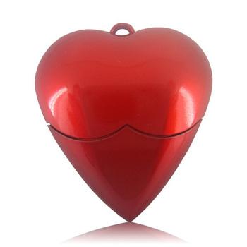 Heart Shaped Plastic USB Flash Drive 4GB 8GB 16GB 32GB 64GB Free Shipping