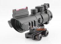 2013 Latest Airsoft ACOG Style 1X32 Tri-trail Military Style Red Green Dot Shotgun Sight Scope w/ Picatinny Rail, HD-20