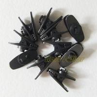 Earphone Headset Cables,Wire,Cord Clip Nip Holder Hook Mount on Shirt Collar Lapel,Black,5PCS