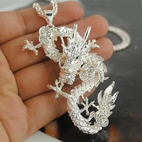 Big Promotion Fashion Jewelry Chinese Style Dragon Pendant Long Sweater Necklace  Free Shipping RuYiXL103