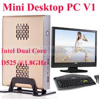 Nettop PC Dual Core D525 1.8GHz, 2G DDR3 RAM, 32G SSD, Linux/ Windows Mac Mini with Alloy Metal Case Micro PC
