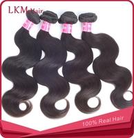 5A FREE SHIPPING Body Wave Virgin Peruvian hair Bundles 4pcs lot One Donor Young Girl Virgin Hair, LKM Hair products