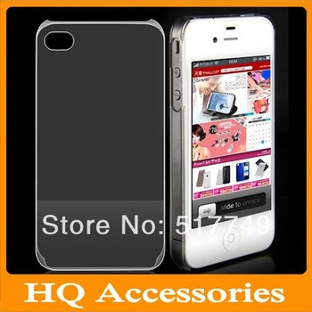 Wholesales Hard Plastic clear crystal transparent back cover cases for iphone 4 4S Free Shipping 20pcs/lot