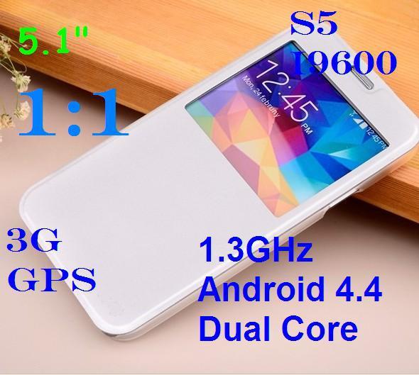 """Nuovo s5 i9600 5.1"""" quad core dual core android 4.4 mtk6582 mtk6572 3g gps intelligente telefono 8mp telefoni cellulari sim singolo mobile originale"""