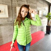 Free Shipping  New Arrival Keddy Women's Europe Down Jacket  Winter Coat Warm Padded Parka Overcoat Outerwear