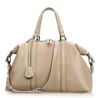 2014 new fashion snakeskin effect real leather shoulder bag, large handbags in style, custom logo handbags