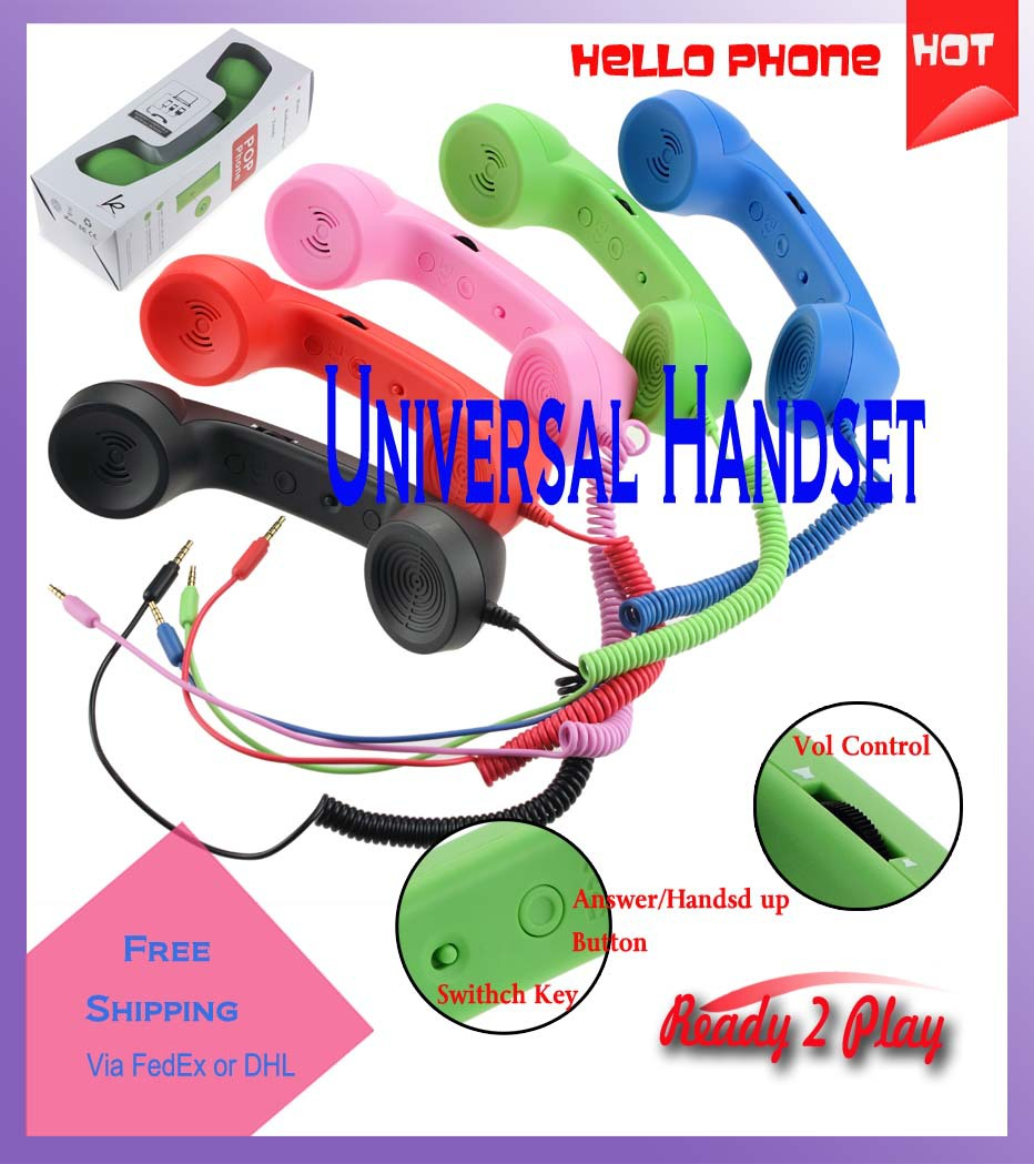 Factory price + free shipping 2013 new arrived universal pop Moshi COCO retro handset with Universal key & VOL control(China (Mainland))